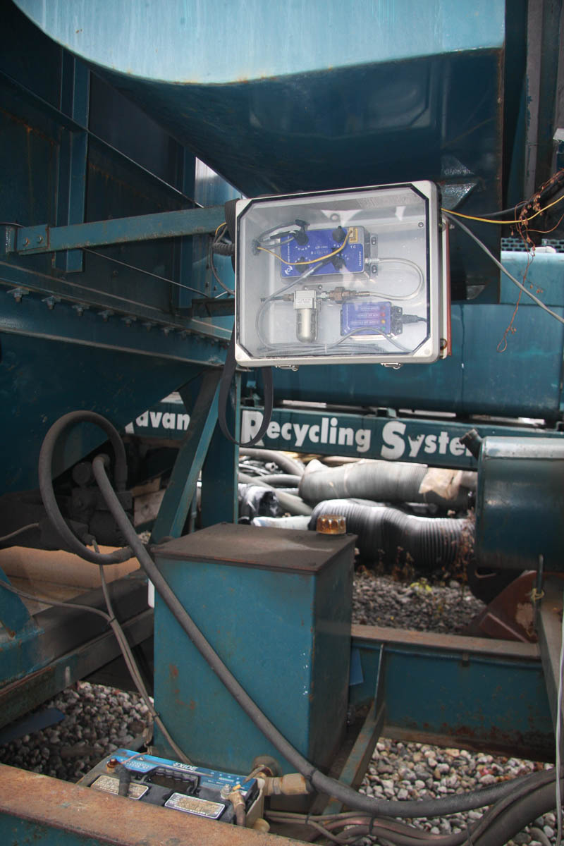 2001 ADVANCED RECYCLING SYSTEMS MDL. DC-40 DUST COLLECTION SYSTEM, ON TRAILER DECK, S/N: - Image 5 of 13