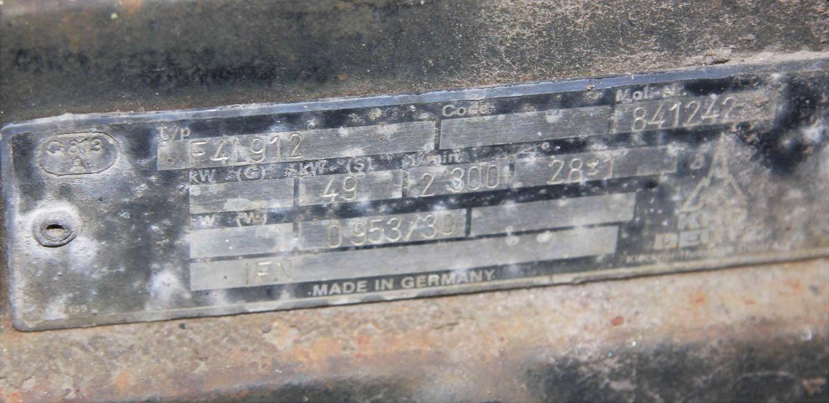 HYDRA-TECH PUMPS, INC. PORTABLE HYDRAULIC PUMP, DEUTZ MDL. F41912 AIR DIESEL, TRAILER HITCH, S/N: - Image 7 of 7