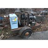 HYDRA-TECH PUMPS, INC. PORTABLE HYDRAULIC PUMP, DEUTZ MDL. F41912 AIR DIESEL, TRAILER HITCH, S/N: