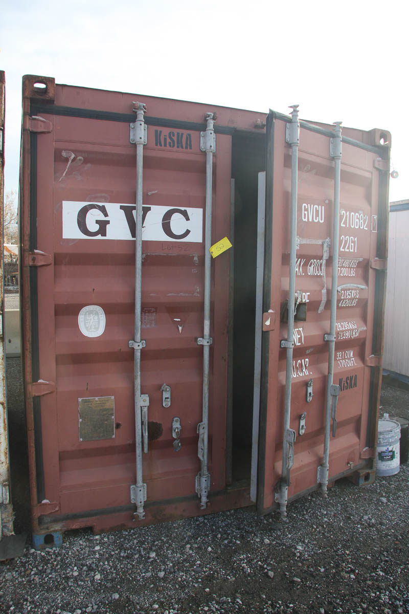 20' SHIPPING CONTAINER (GVC) [LOCATED @ 6 CANAL ROAD, PELHAM, NY (BRONX)]