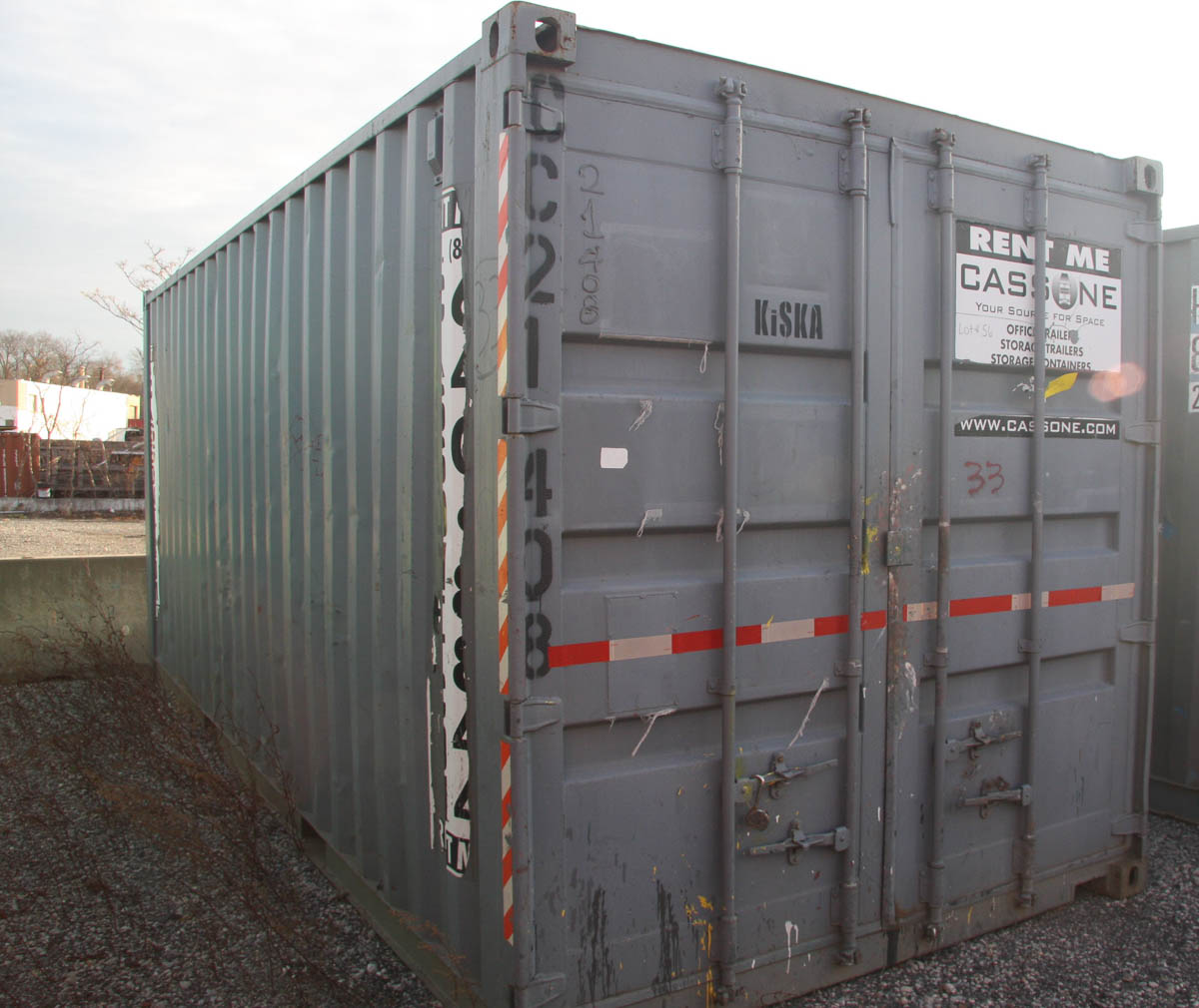 20' SHIPPING CONTAINER (#33) [LOCATED @ 6 CANAL ROAD, PELHAM, NY (BRONX)] - Image 2 of 2