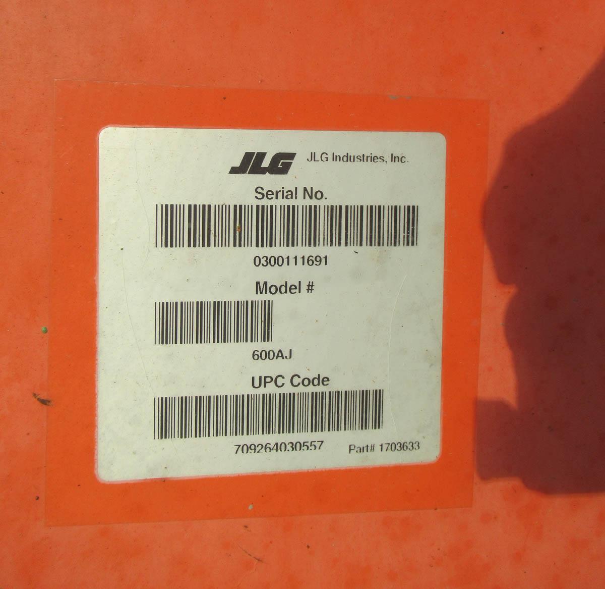 2007 JLG 600AJ BOOM LIFT, DIESEL, 500# CAPACITY, 60' MAX PLATFORM HEIGHT, 39' MAX HORIZONTAL - Image 2 of 13