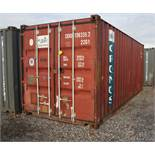 20' SHIPPING CONTAINER [LOCATED @ 6 CANAL ROAD, PELHAM, NY (BRONX)]
