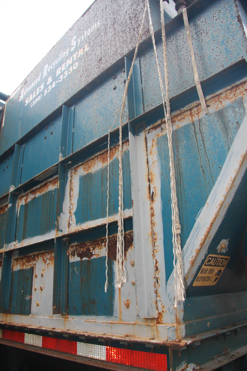 2001 ADVANCED RECYCLING SYSTEMS MDL. DC-40 DUST COLLECTION SYSTEM, ON TRAILER DECK, S/N: - Image 6 of 13