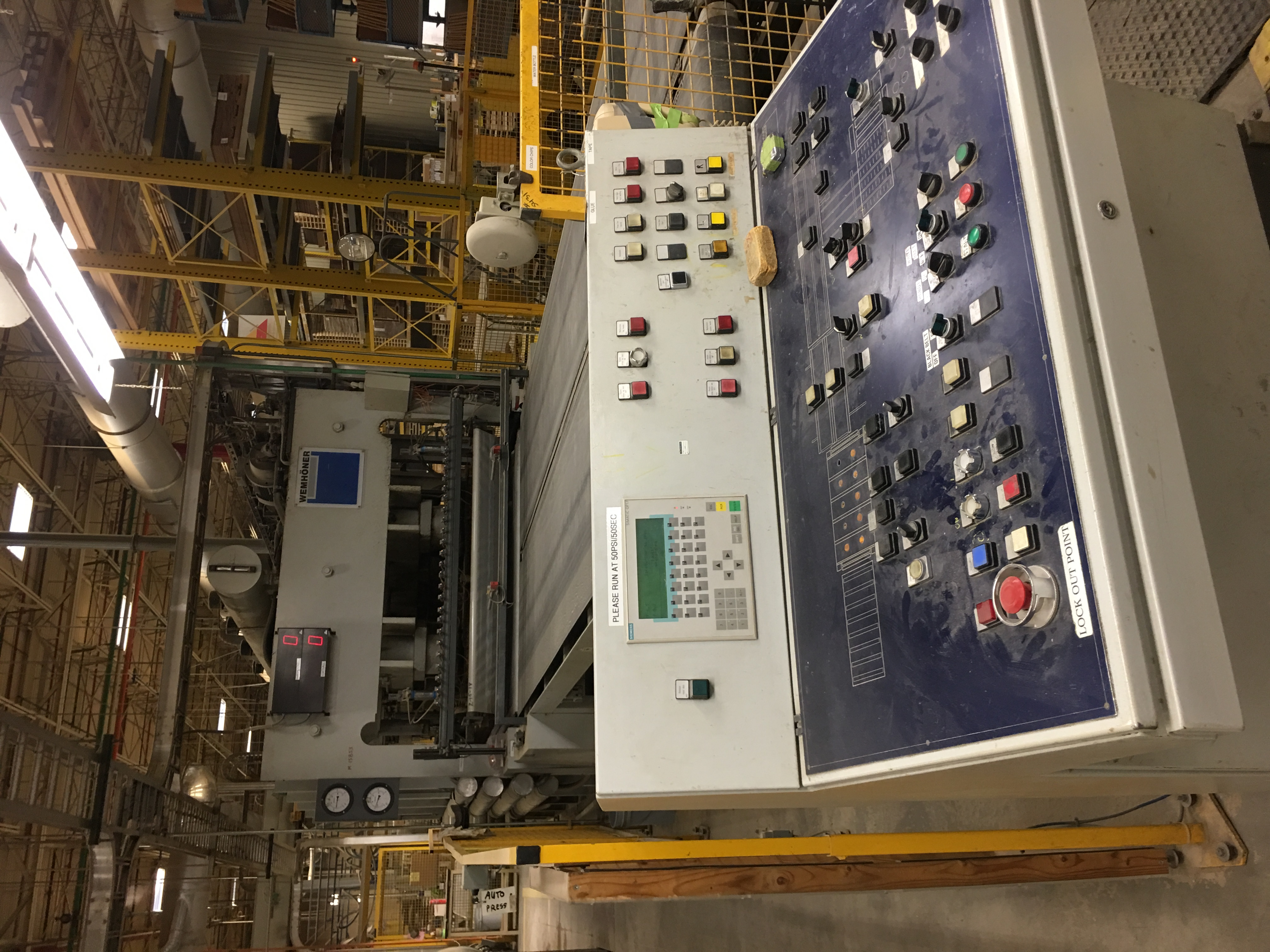 WEMHONER PRESS including infeed conveyor outfeed conveyor - Image 4 of 9