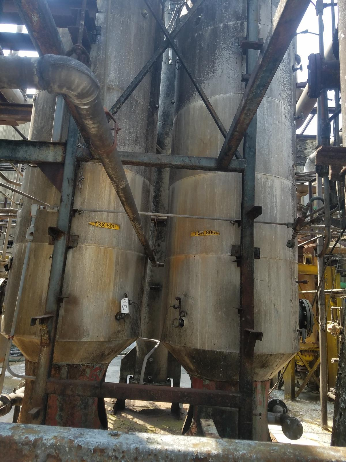 Lot of (2) Condenser Columns, (Ref. TSX 800) | Rig Fee: Contact Rigger