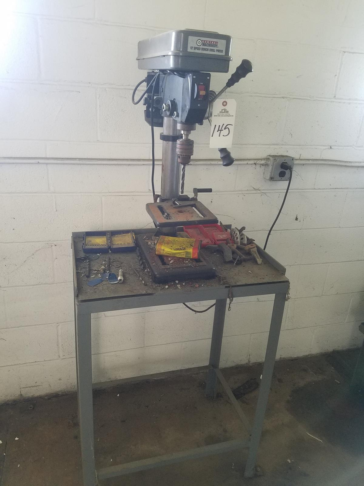 Lot 145 - Central Machinery Bench Drill Press   Rig Fee: $50