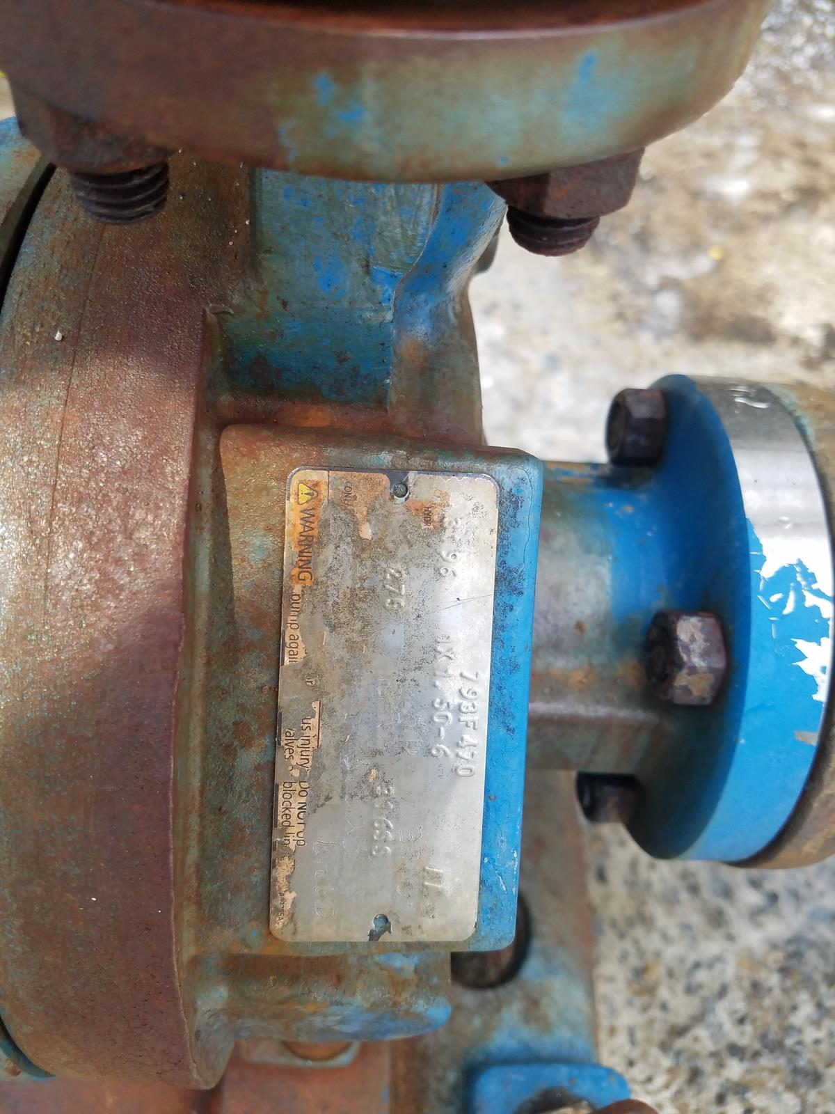 Goulds 1X1.5-6 Centrifugal Pump, W/ 5 HP Electric Motor   Rig Fee: $200 - Image 2 of 3