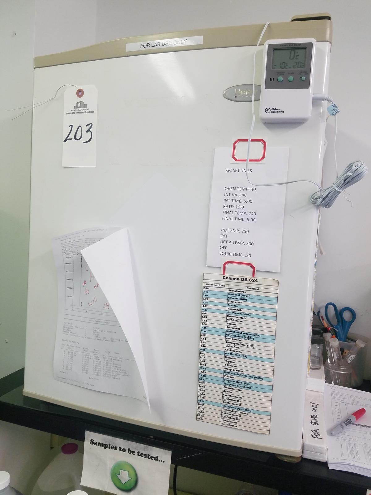 Lot 203 - Haier Laboratory Refrigerator   Rig Fee: $100