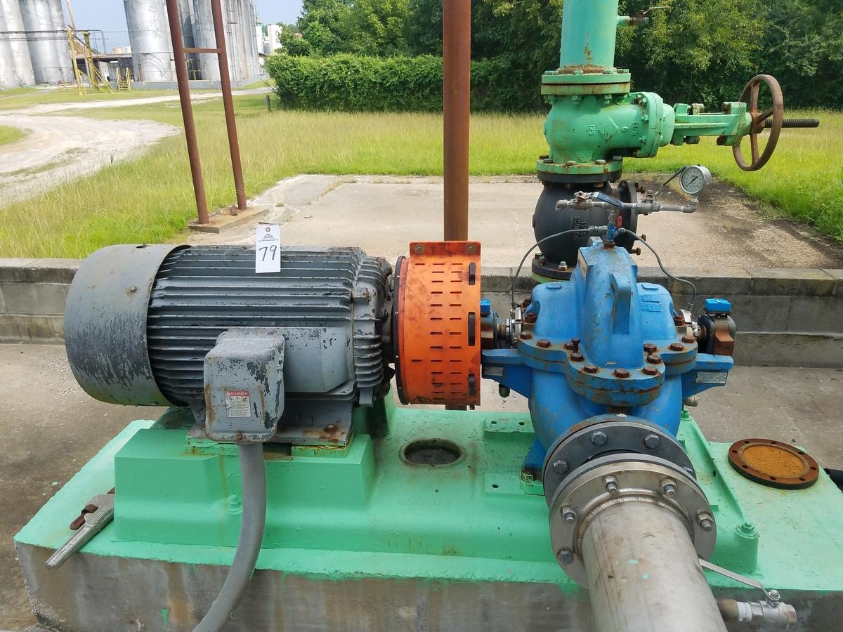Goulds 6X8-14H Centrifugal Pump, M# 3410, S/N Q204H823, W/ Toshiba 100 HP Electr   Rig Fee: $1000