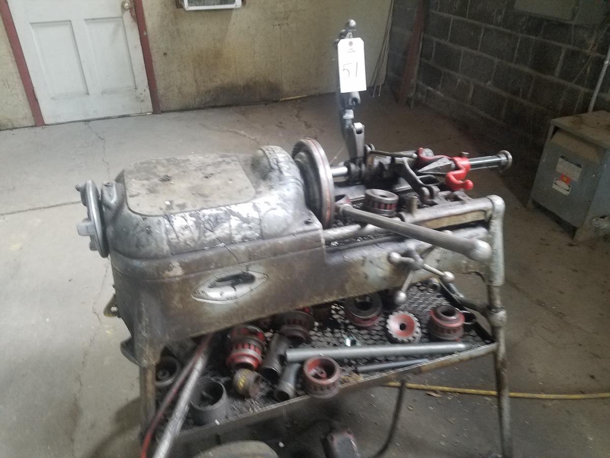 Lot 51 - Ridgid Power Pipe Threader, M# 535   Rig Fee: $100