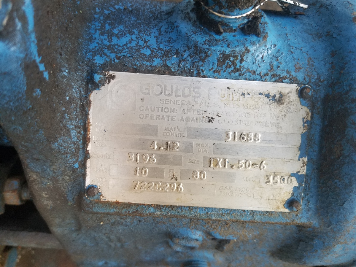Goulds 1X1.5-6 Centrifugal Pump, W/ 10 HP Electric Motor | Rig Fee: $200 - Image 2 of 3