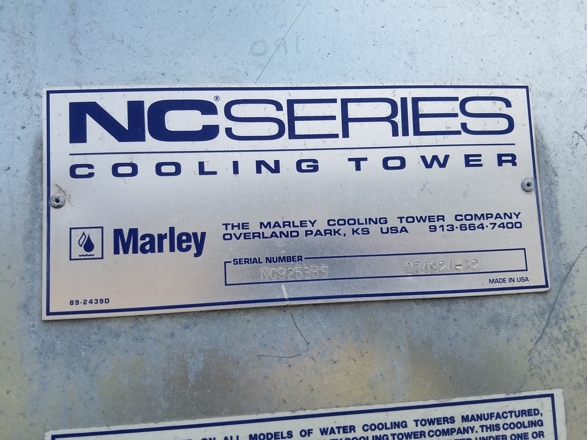 Marley NC Series Cooling Tower, S/N NC9253BS 174924-B2   Rig Fee: Contact Rigger - Image 3 of 3