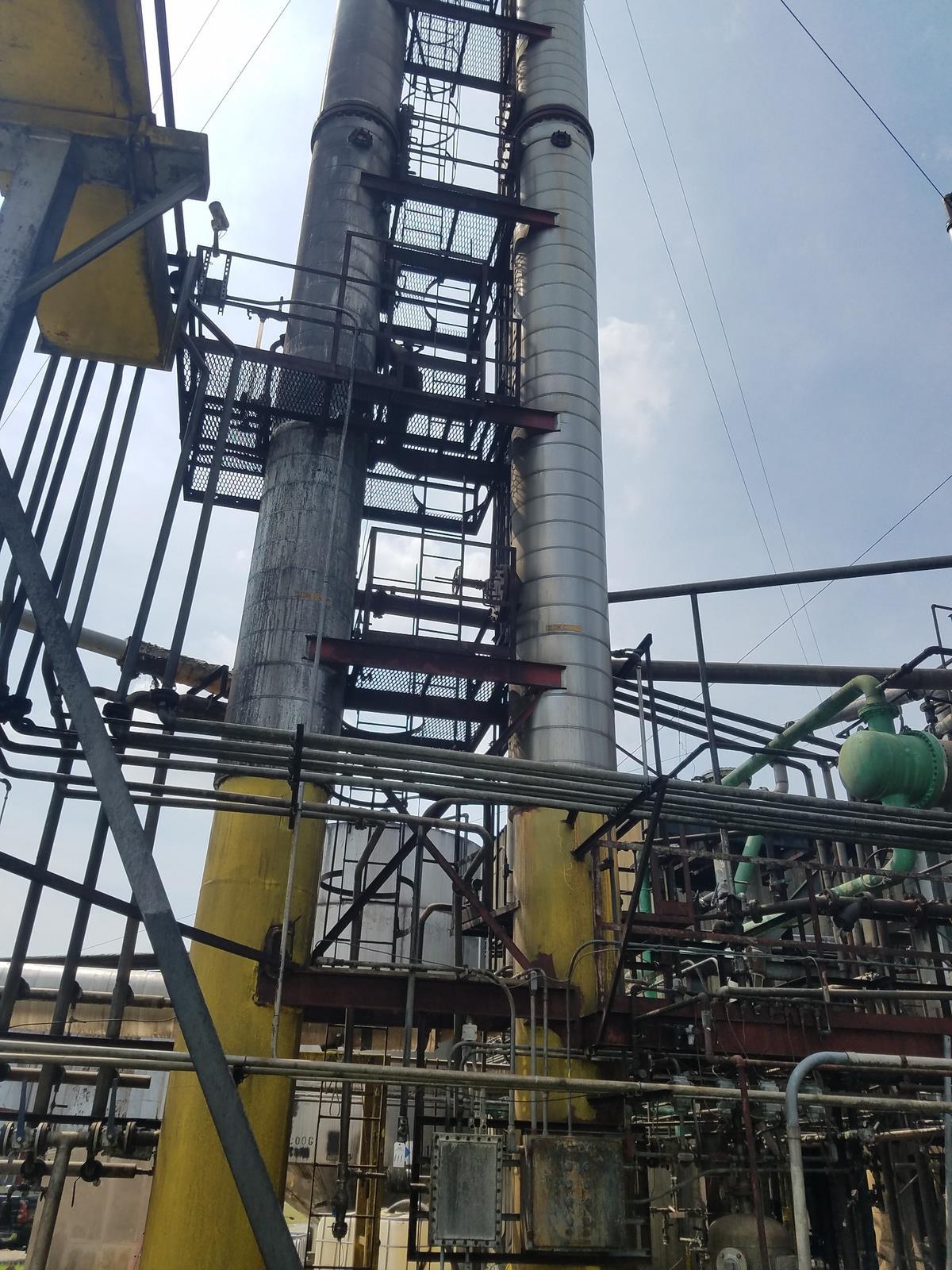 Lot of (2) Distilation Column, (Ref. D1/D2 Column)   Rig Fee: Contact Rigger