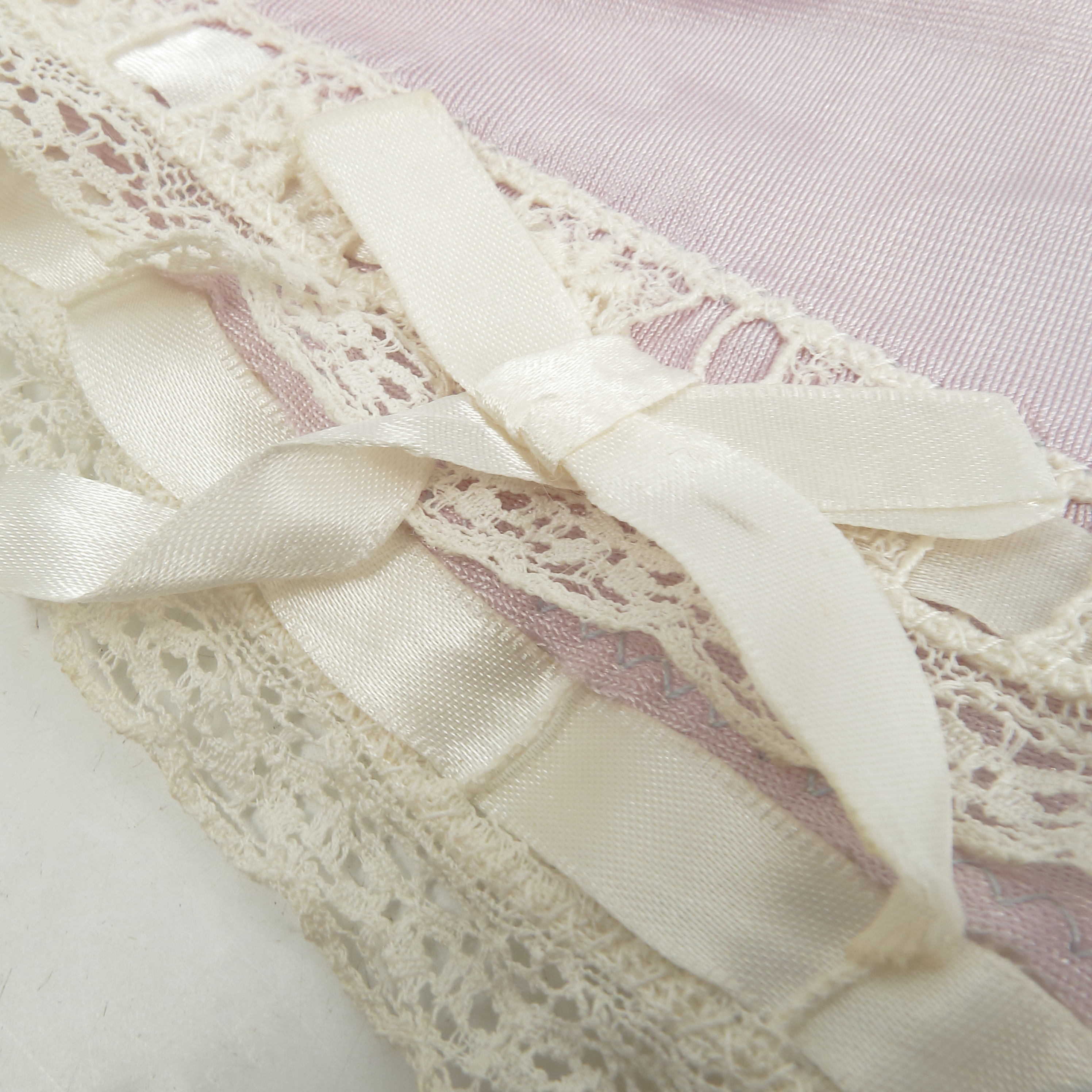 Eva Braun, a pair of under garments, with lace and ribbon trim, embroidered with her initials, - Image 4 of 4