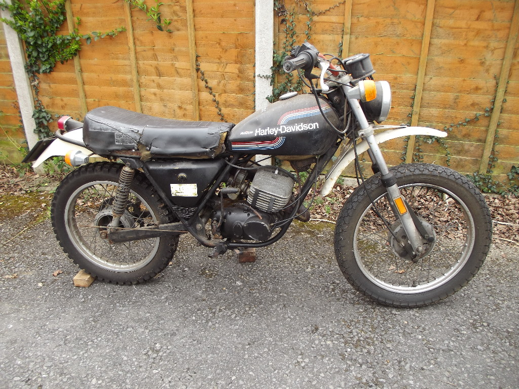 A 1976 Amf Harley Davidson Sxt 125 Registration Number Mhb 384p Motorcycle Engine Drawing Vquad And Method Lot 2