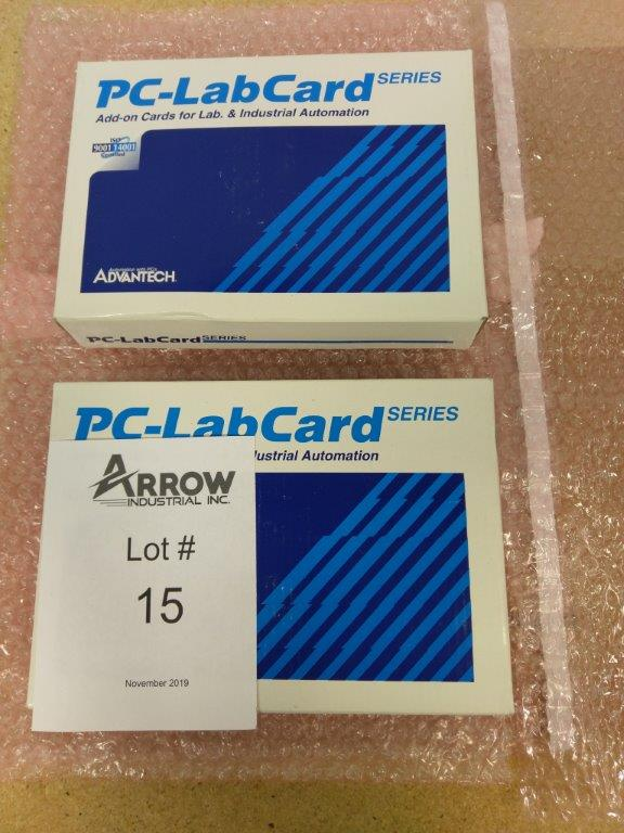 Lot 15 - Lot of 2 LC-LabCard Series Add-On Cards Model PCLD-780 Wiring Terminal Board - (1) New Sealed