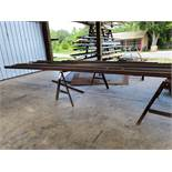 Lot Assorted Steel, Sawhorses and Racking