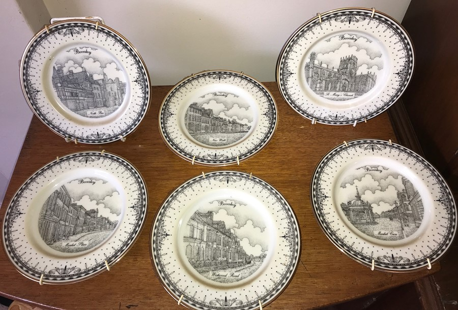 Lot 52 - Six limited edition plates depicting Beverley scenes by Decor Art Creations Ltd.