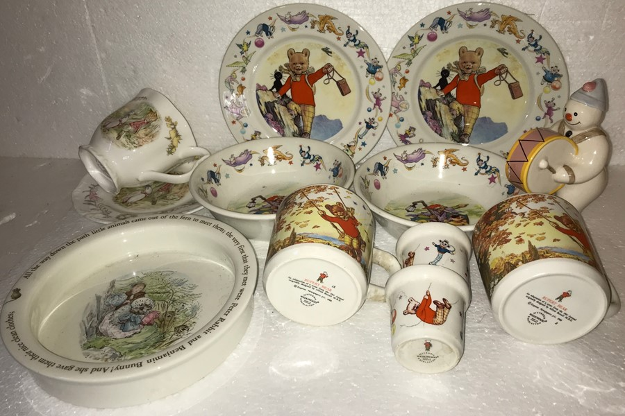 Lot 10 - A quantity of nursery china to include Wedgwood, Royal Doulton, The Snowman, Royal Albert etc... (