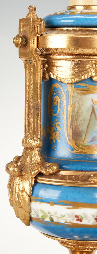 Pair Baccarat Style Crystal Lamps plus Sevres Style Lamp - Image 19 of 21