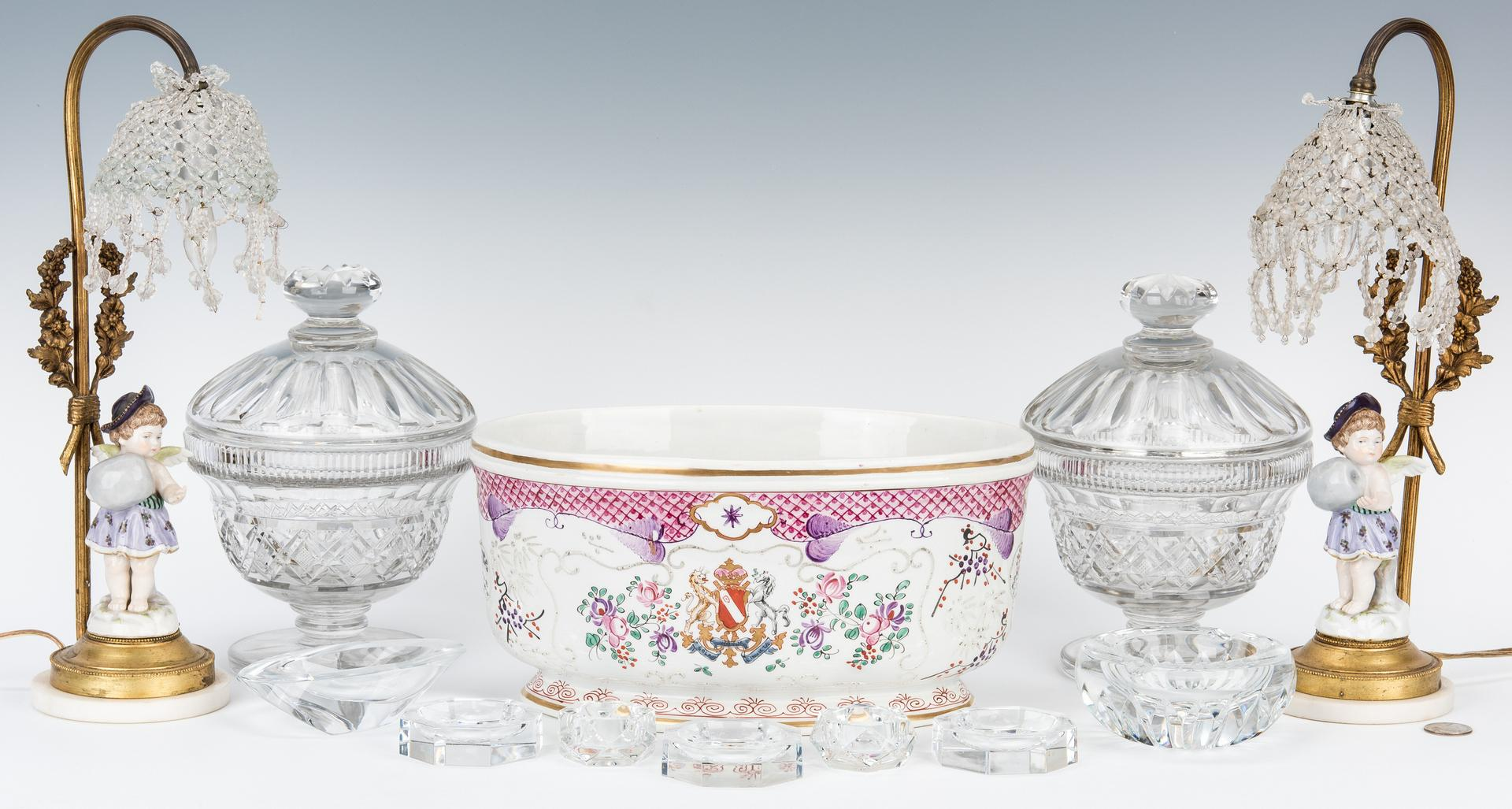 Group 5 Decorative Table Items & Baccarat Crystal