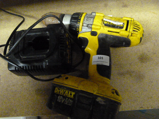 Lot 101 - Dewalt Drill with Battery & Charger