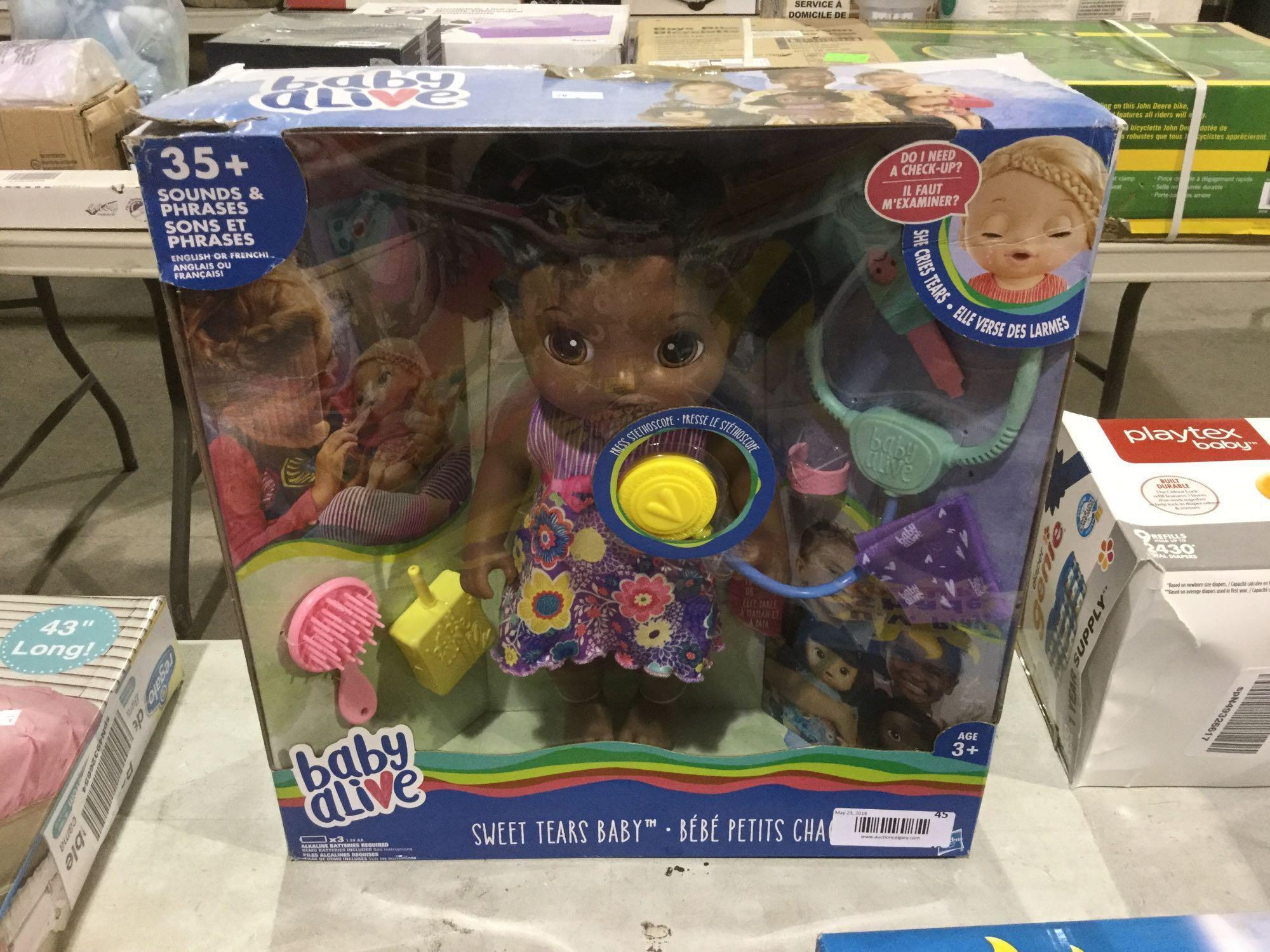 Lot 45 - Baby Alive Sweet Tears Baby