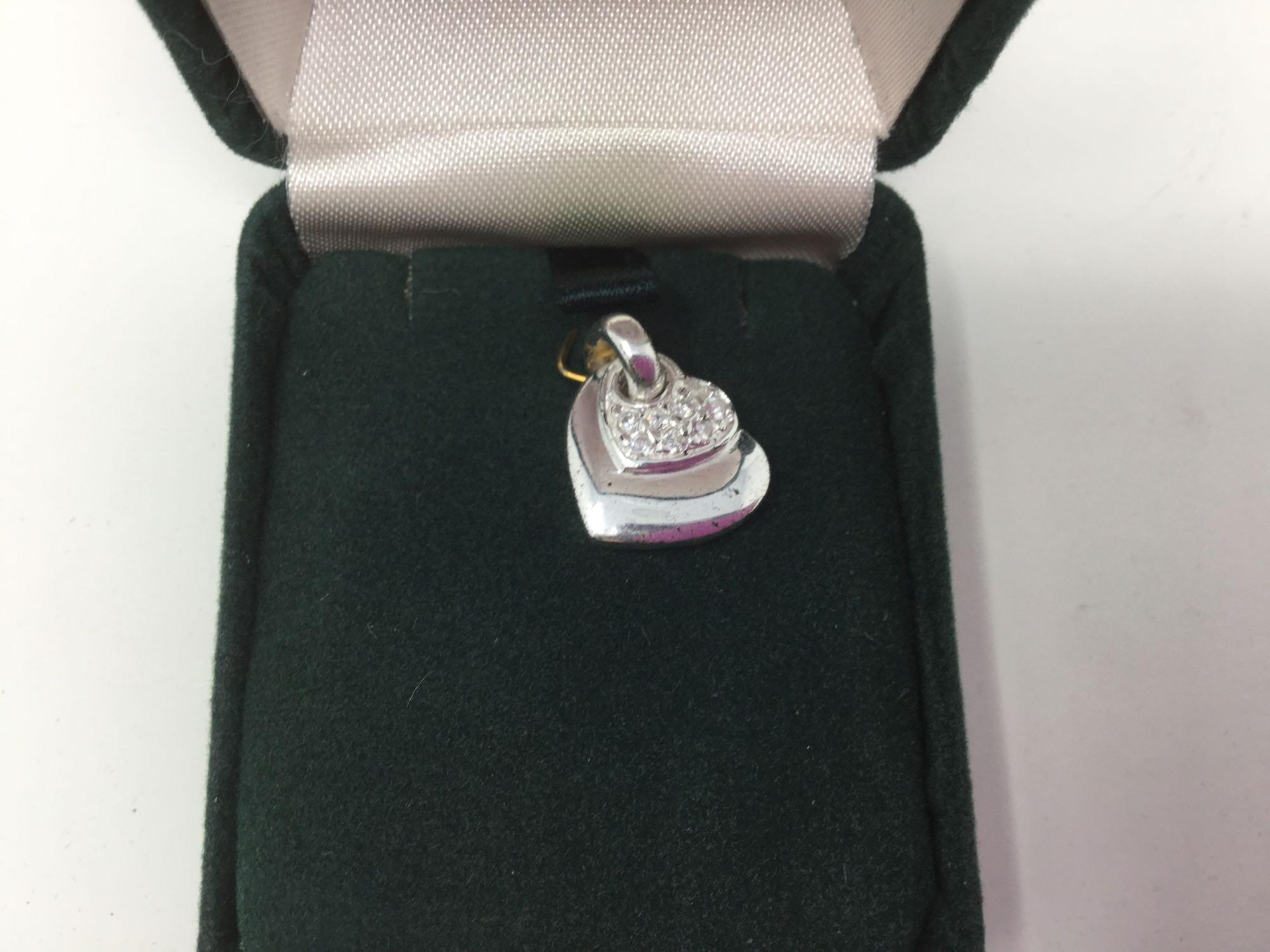Lot 28 - Sterling Silver Cubic Zirconia Pendant - Retail $150