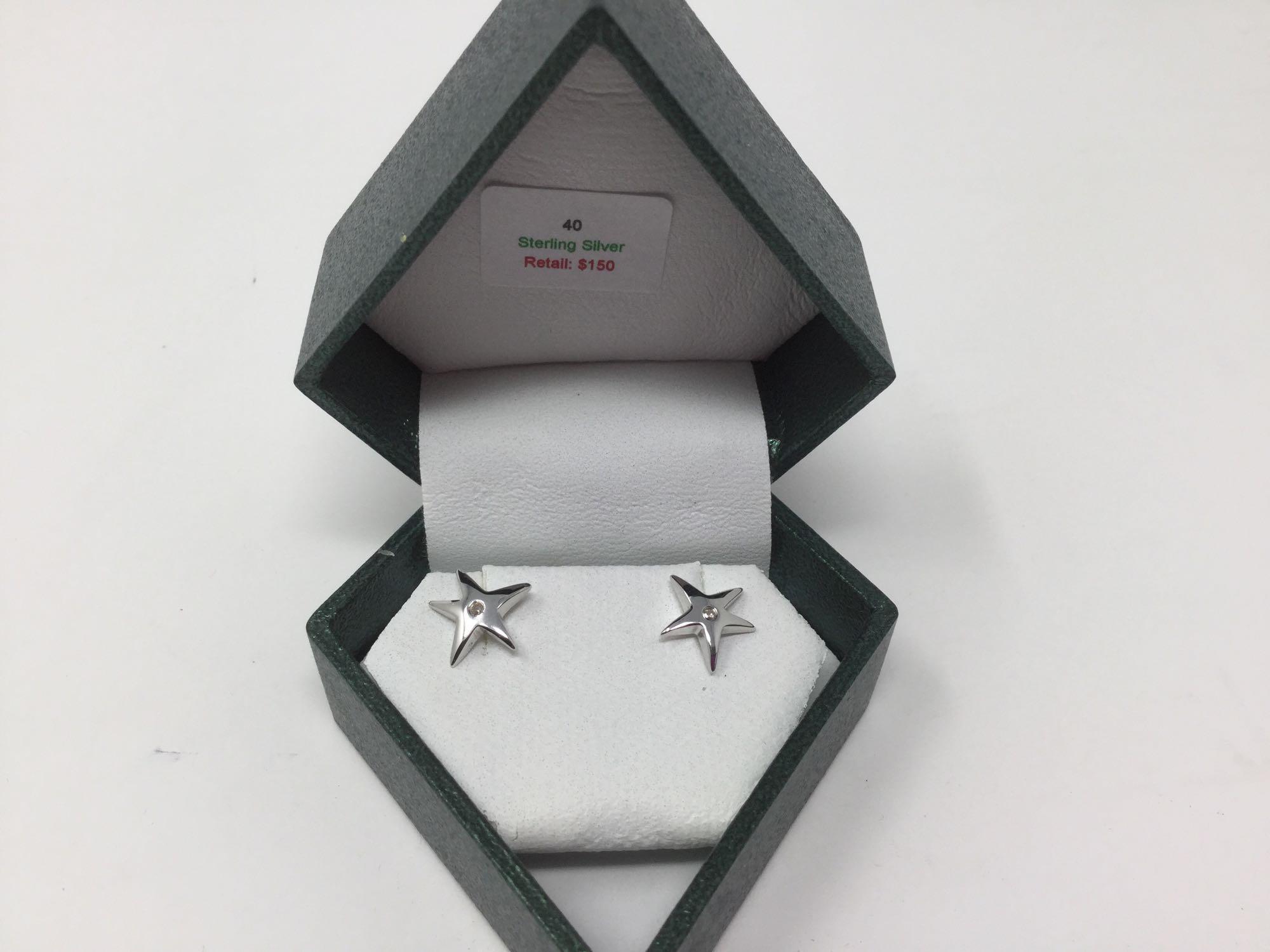 Lot 16 - Sterling Silver Stud Earrings - Retail $150