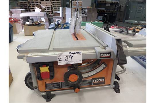 ridgid r4516 10 portable table saw rh bidspotter com RIDGID Jobsite Table Saw RIDGID Jobsite Table Saw