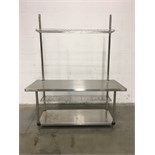 6' Metro Stainless Steel Table with Built-In Shelving