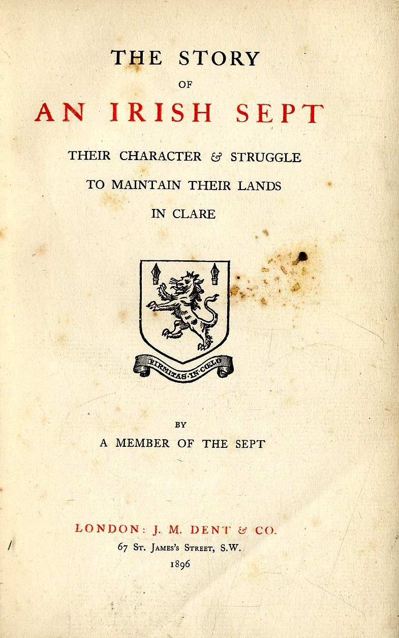 Lot 31 - Clare Genealogy: [Mc Namara (N.C.)] The