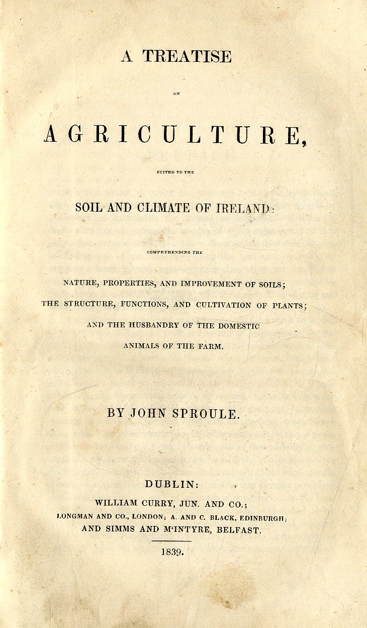 Lot 27 - Sproule (John) A Treatise on Agriculture