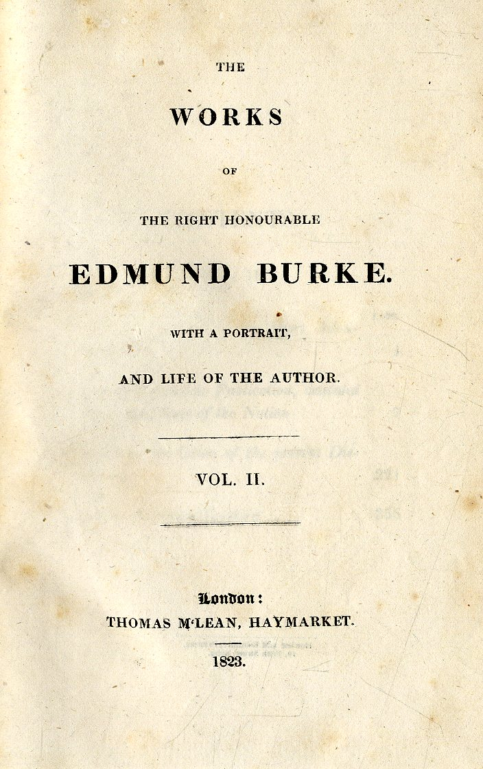 Lot 48 - Burke (Edmund) The Works of the Rt. Hono