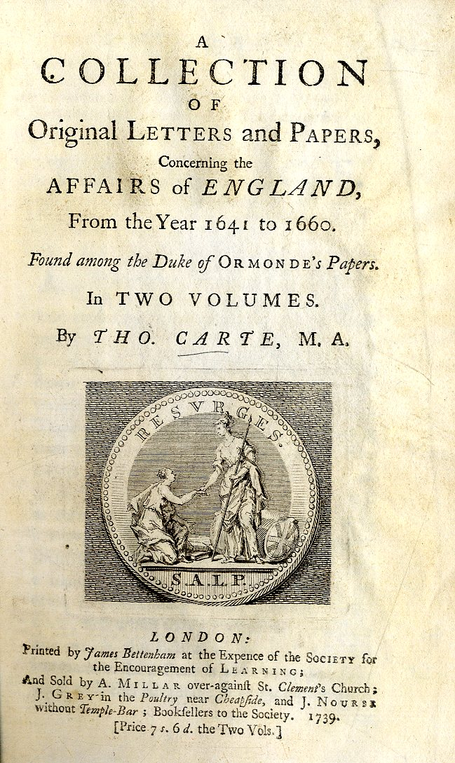 Lot 11 - Duke of Ormonde: Carte (Thos.) A Collect