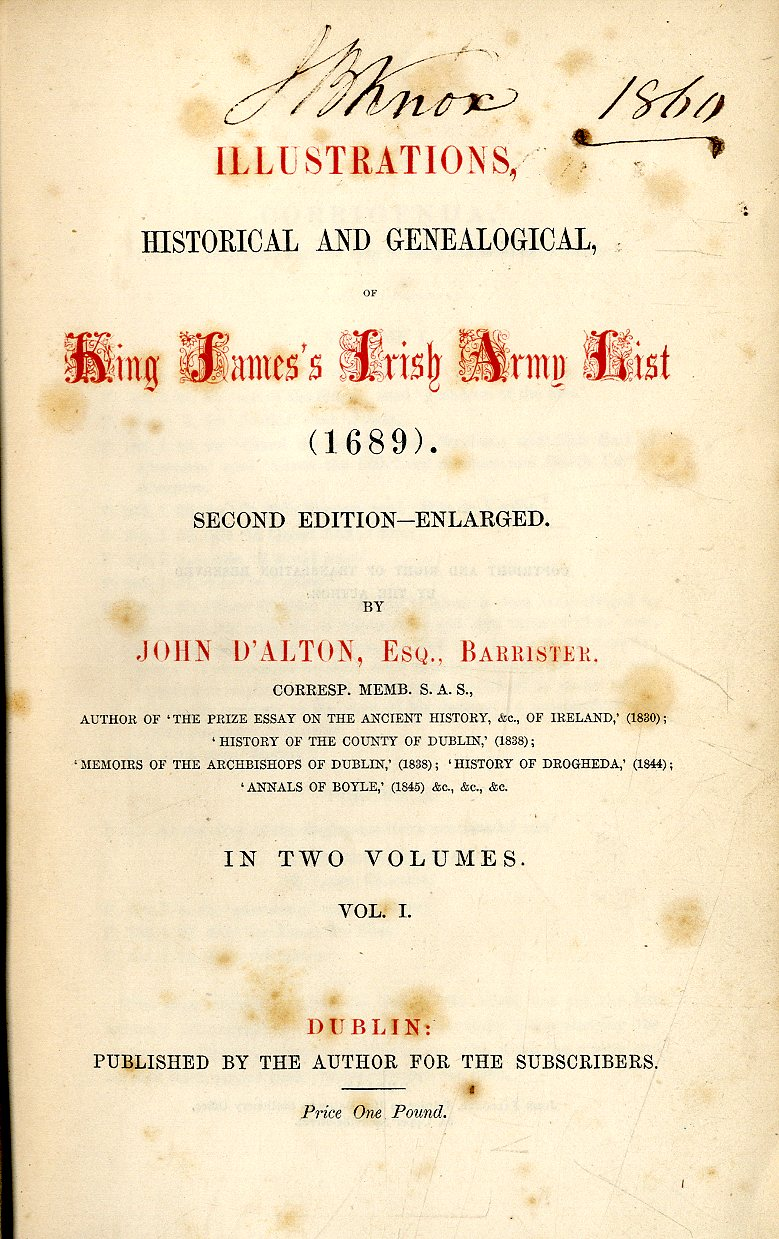 Lot 35 - D'Alton (John) Illustrations, Historical