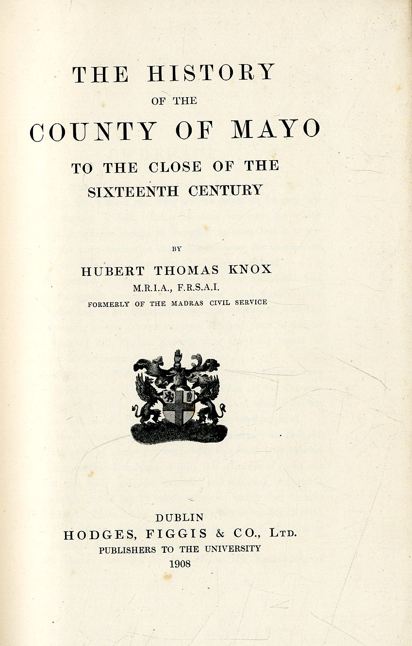 Lot 29 - Knox (Hubert Thos.) The History of the C