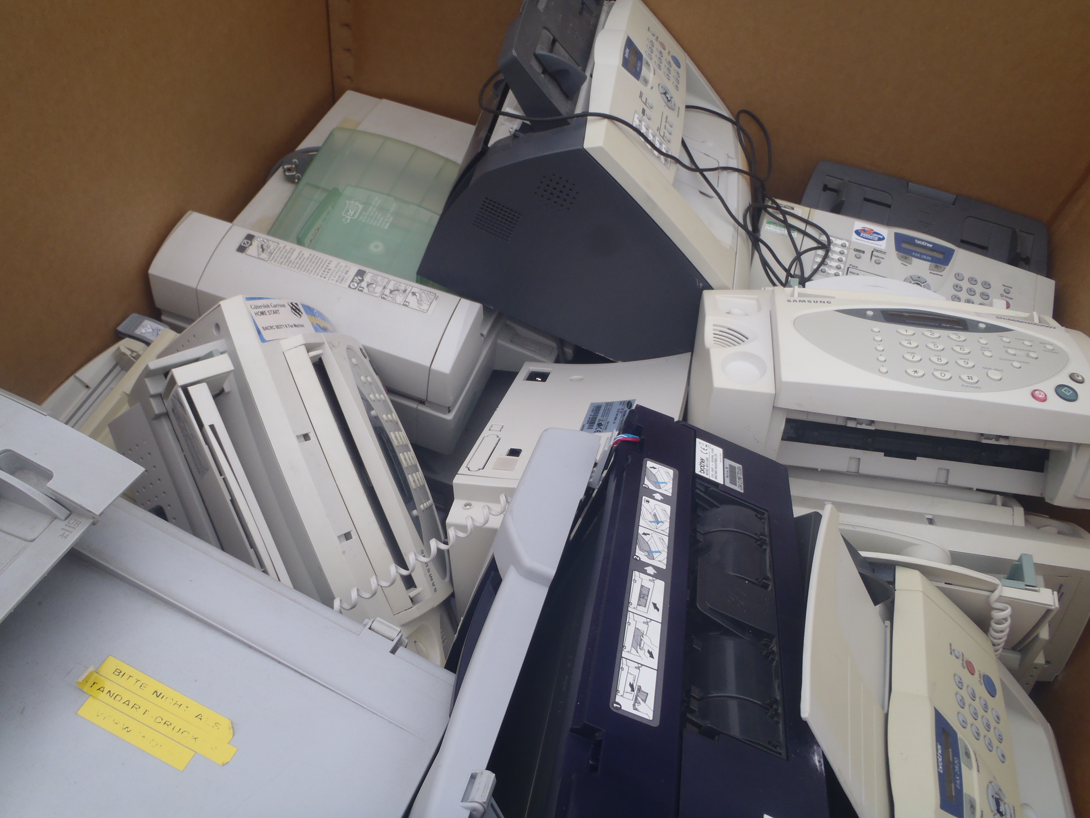 Lot 32 - Pallet of Printers & Fax Machines - Used Condition - Untested - (10992)