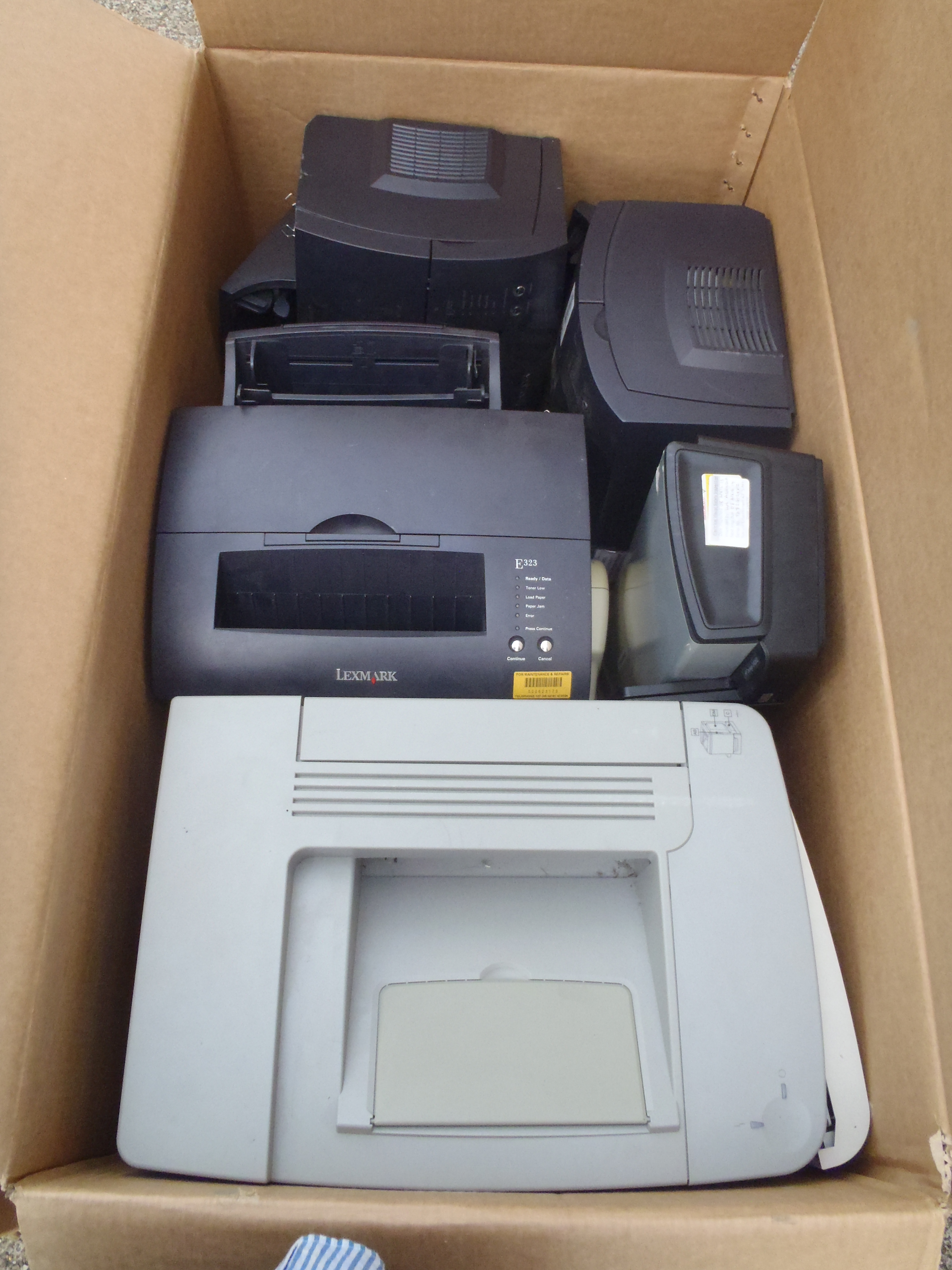 Lot 34 - Box of Printers - Used Condition - Untested