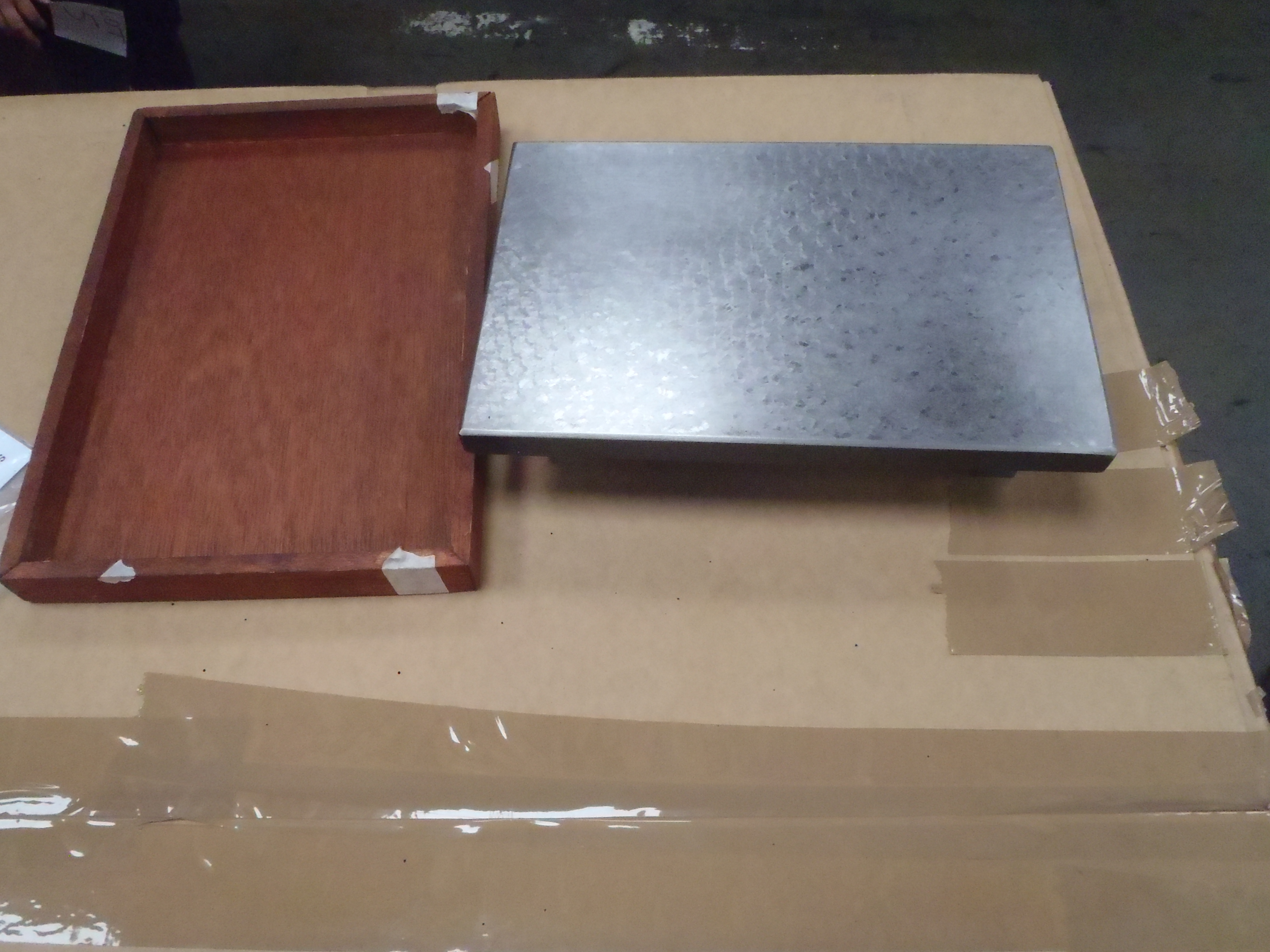 "Surface Plate with Cover - 12"" x 8"" - Used Condition"