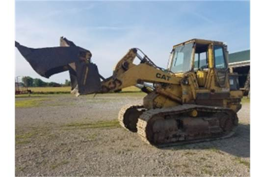 Cat 963 track loader, cab, 5582 hrs, 8' 3 in 1 bucket, 21