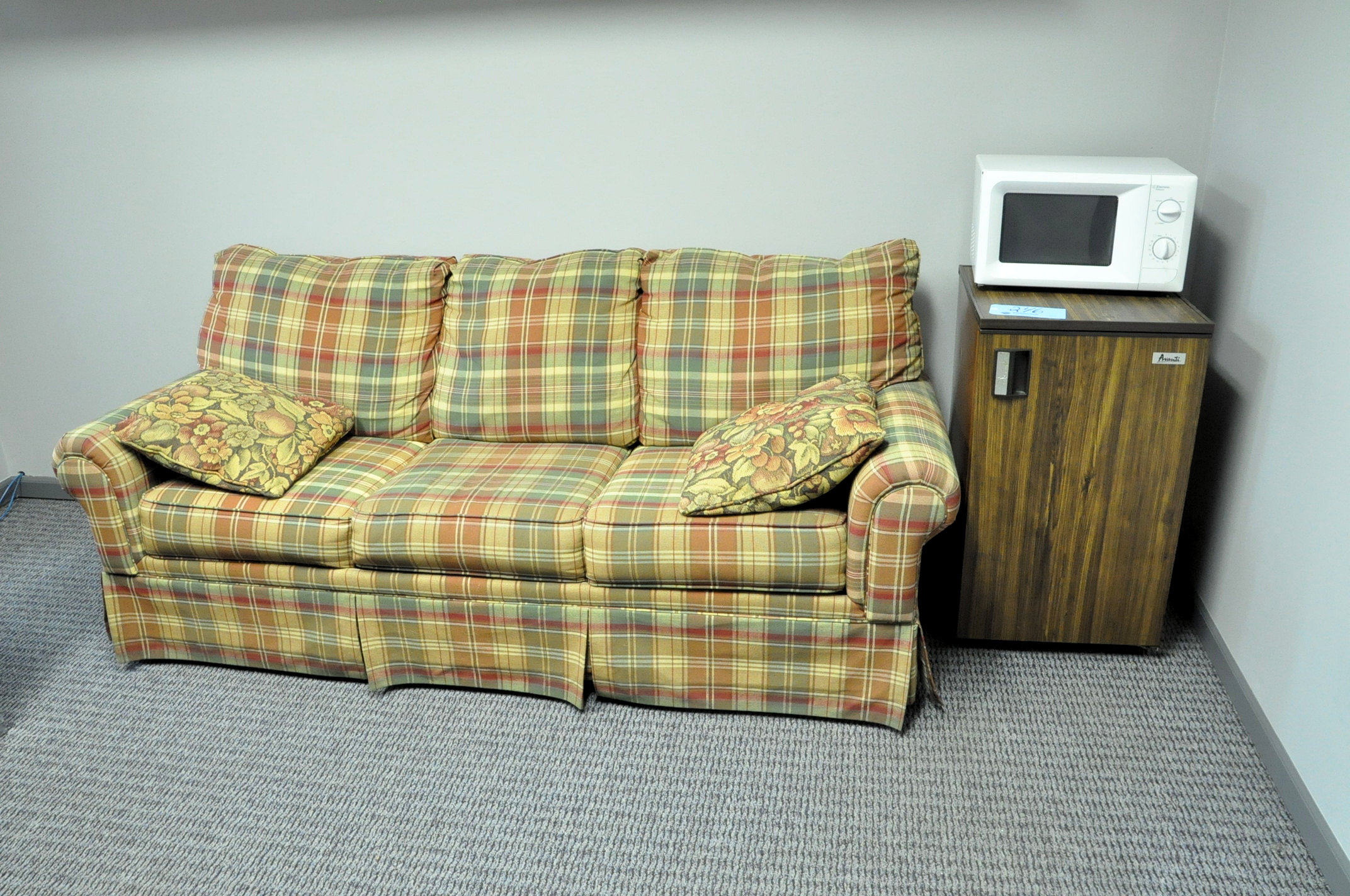 Sofa with Refrigerator and Microwave
