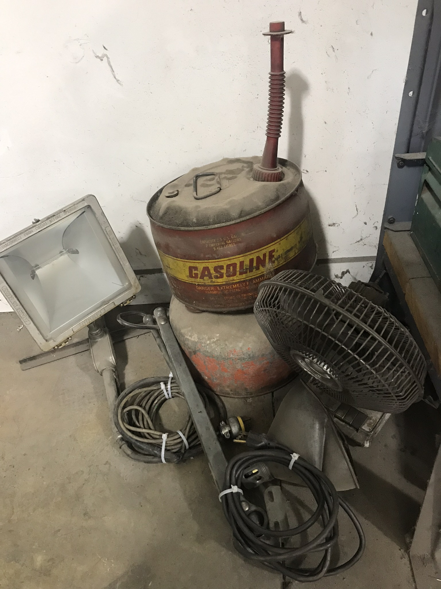 Lot-Tool Boxes, Rope, Electrical Cords, Tarps, Wheels, Fan, Light, - Image 2 of 3
