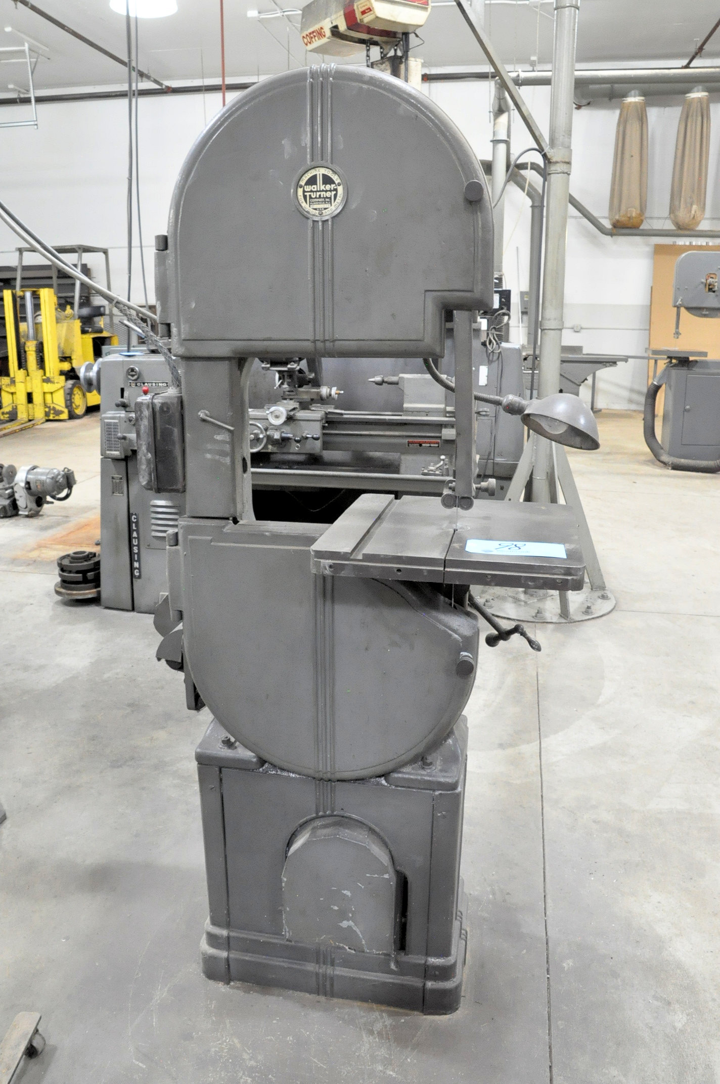 "WALKER TURNER 16"" Vertical Contour Metal Cutting Band Saw, - Image 3 of 4"