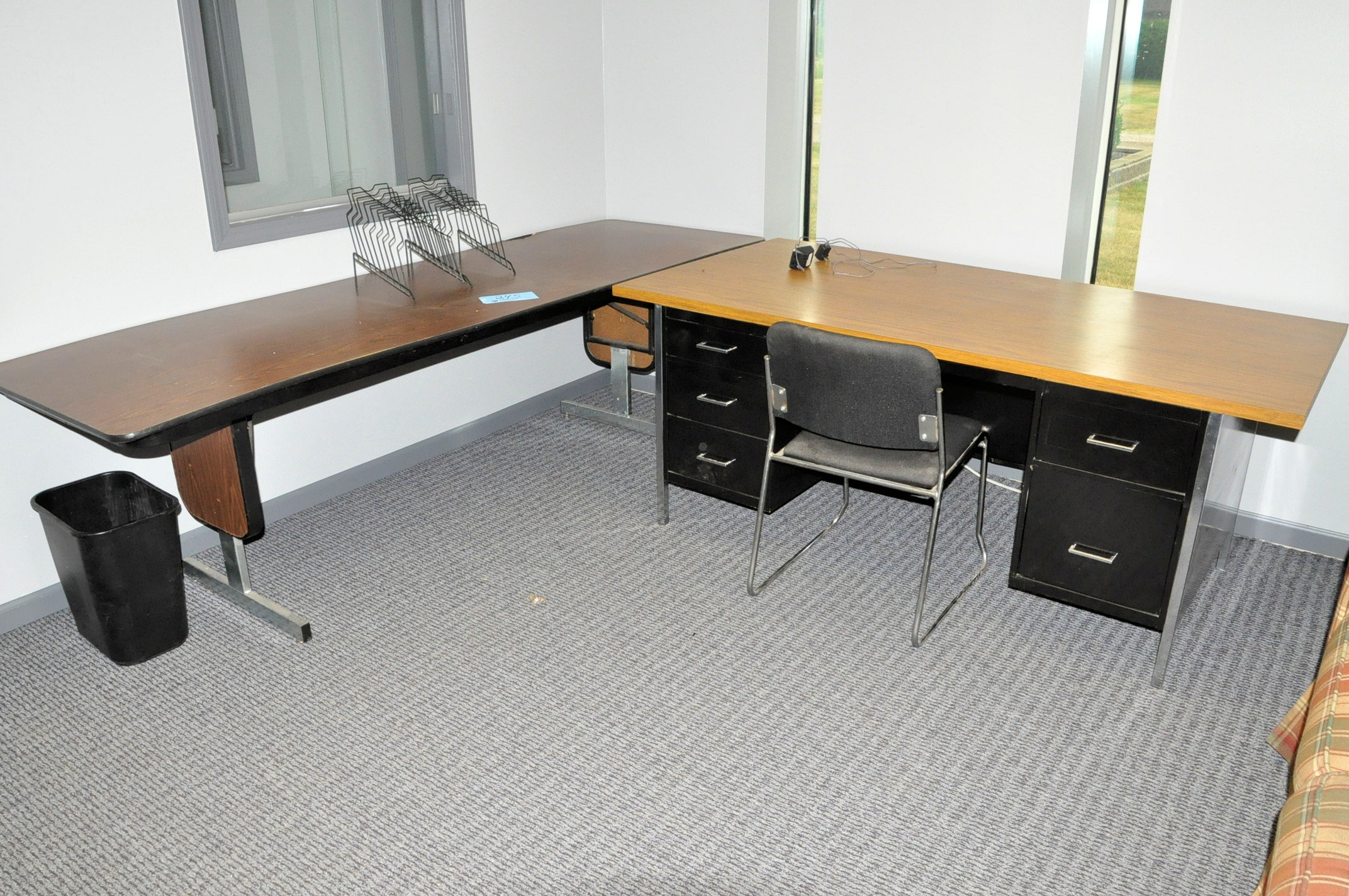 Metal Desk with 8' Folding Table