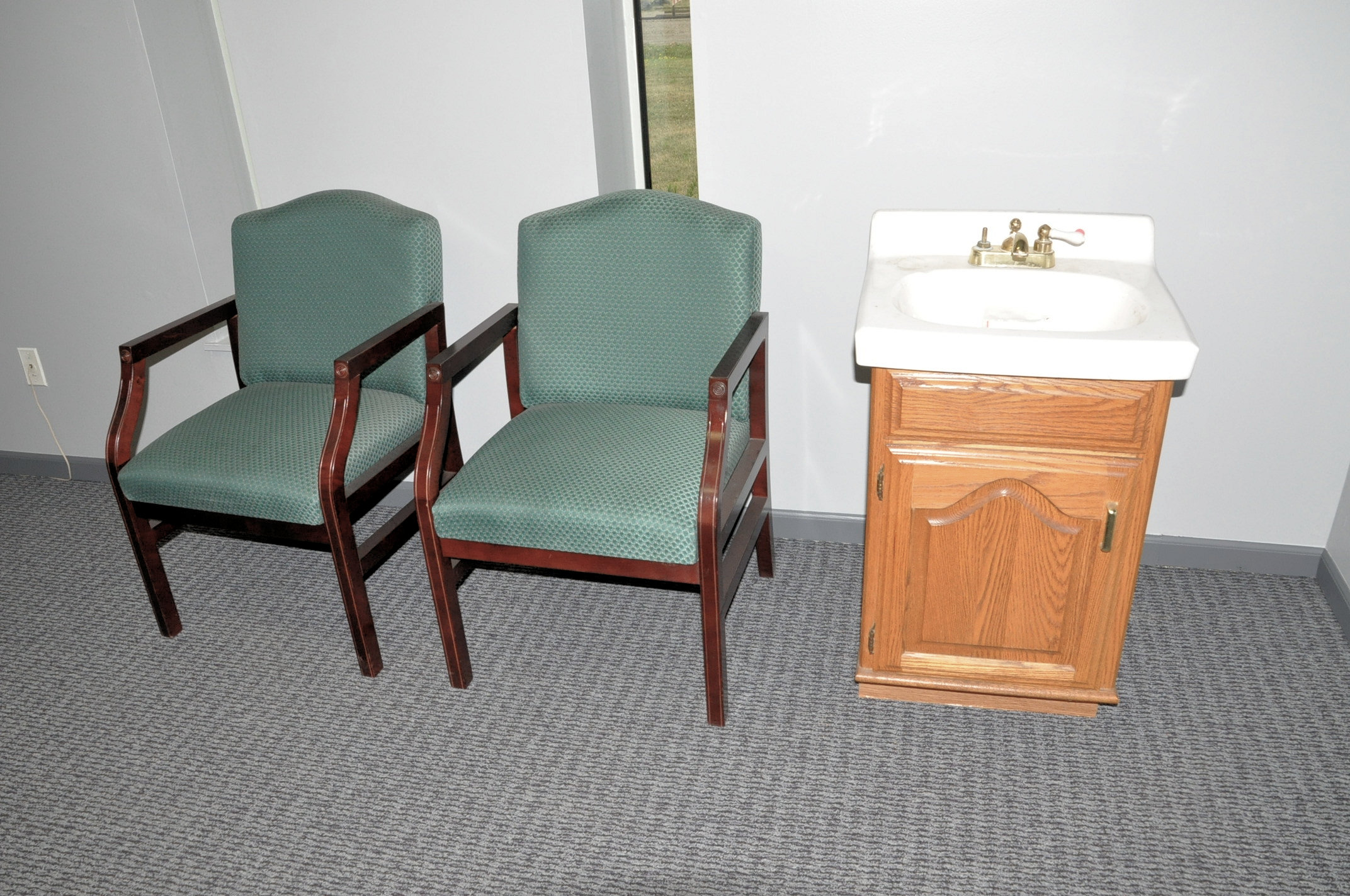 Desk, Credenza, (3) Chairs and Vanity - Image 4 of 6
