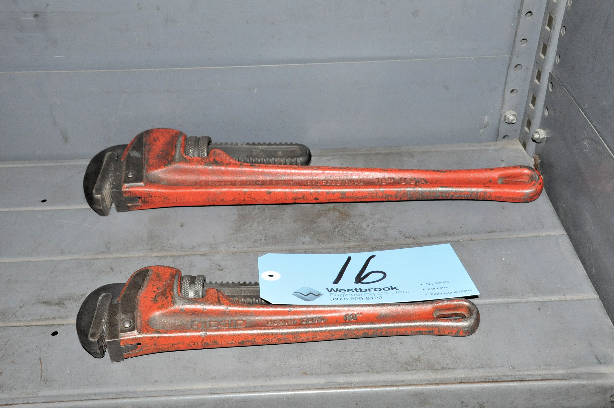 "MASTER MECHANIC 18"" Pipe Wrench with RIDGE 12"" Pipe"