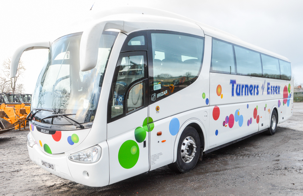 Lot 2 - Scania Irizar PB 49 seat luxury coach Registration Number: SN57 BKD MOT Expires: 01/09/2018 Recorded