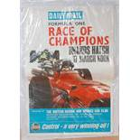 A Daily Mail Formula One Race of Champions Brands Hatch 17th March advertising poster depicting